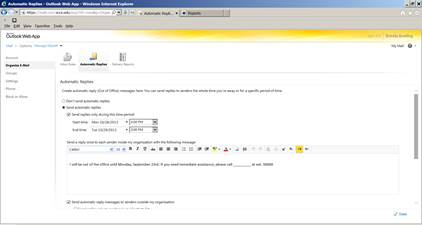 Screenshot 2 - Replies to contacts inside organization
